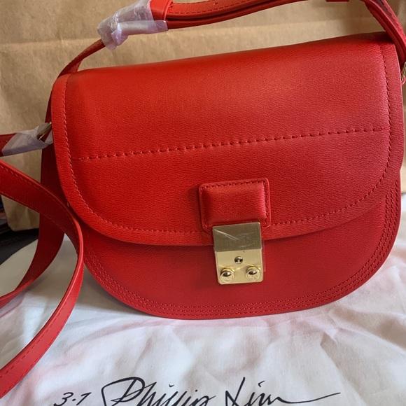 Red 3.1 Phillip Lim Pashli Saddle Leather Shoulder Bag